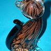 Murano Black Copper Aventurine  Art Glass Cat more views