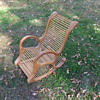 Child's rocker, laminated wood and dowels