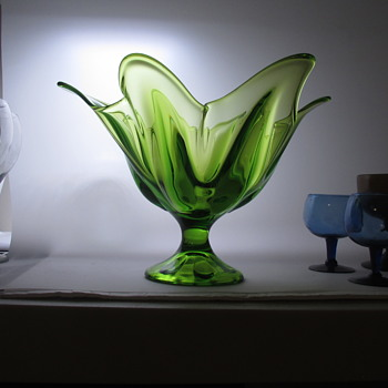 Nice Green Colored Dish - Glassware
