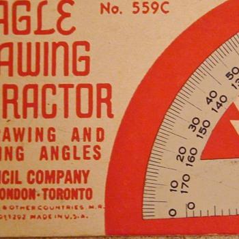 Art Deco 1936 Eagle Drawing Protractor