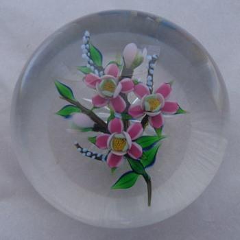 Debbie Tarsitano Floral Bouquet Paperweight  - Art Glass