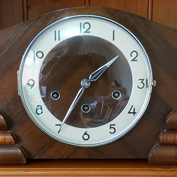 Latest Urgos German Westminster Mantle Clock  - Art Deco