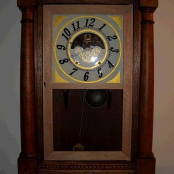 Home Made Column and Cornice Clock with Wooden Movement
