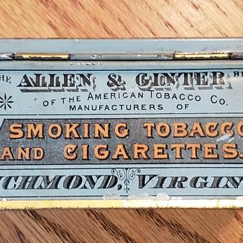 1890's Allen & Ginter Richmond Mixture Tabacco Tin.  - Tobacciana