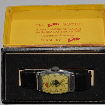 """SMITTY"" Wristwatch by New Haven Clock, Circa 1932/35 - Wristwatches"