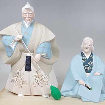 Kabuki Theme Japanese Hakata Doll :- Takasago - Dolls