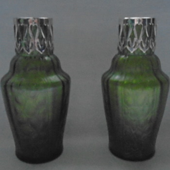 Art Nouveau Kralik Vases  - Art Glass