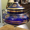 Large lidded glass dish