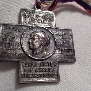 Whitehead & Hoag Company Commemorative Medal Clara Barton  - Medals Pins and Badges