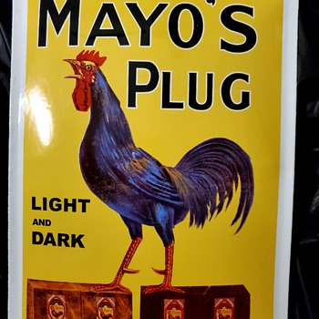 MAYO'S PLUG TOBACCO Porcelain Sign - Signs
