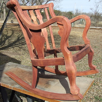 great old rocking chair in restoration