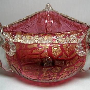 D'Humy--Aurora Glass Co. Fish Vase c.1880. - Art Glass