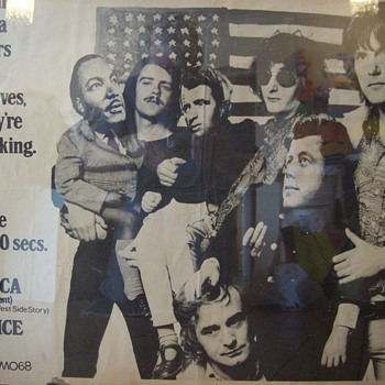 Poster of The Nice (rock band 60's) with images of Kennedys and Martin Luther King