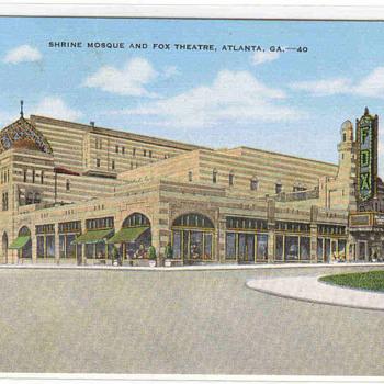 """The Fox Theater""- Atlanta Vintage Postcard"