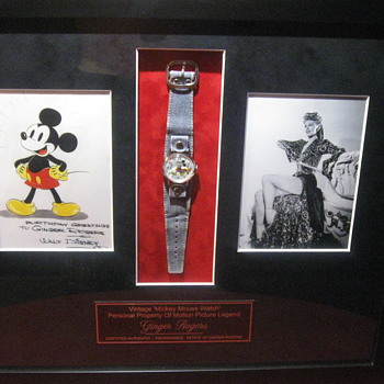 Ginger Rogers  .  .  .  Personal Mickey Mouse Watch