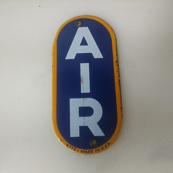 Sunoco Eco Air Tower porcelain sign REAL not Repro. - Petroliana