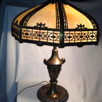 Gram's Antique Lamp - Slag Glass Table Lamp
