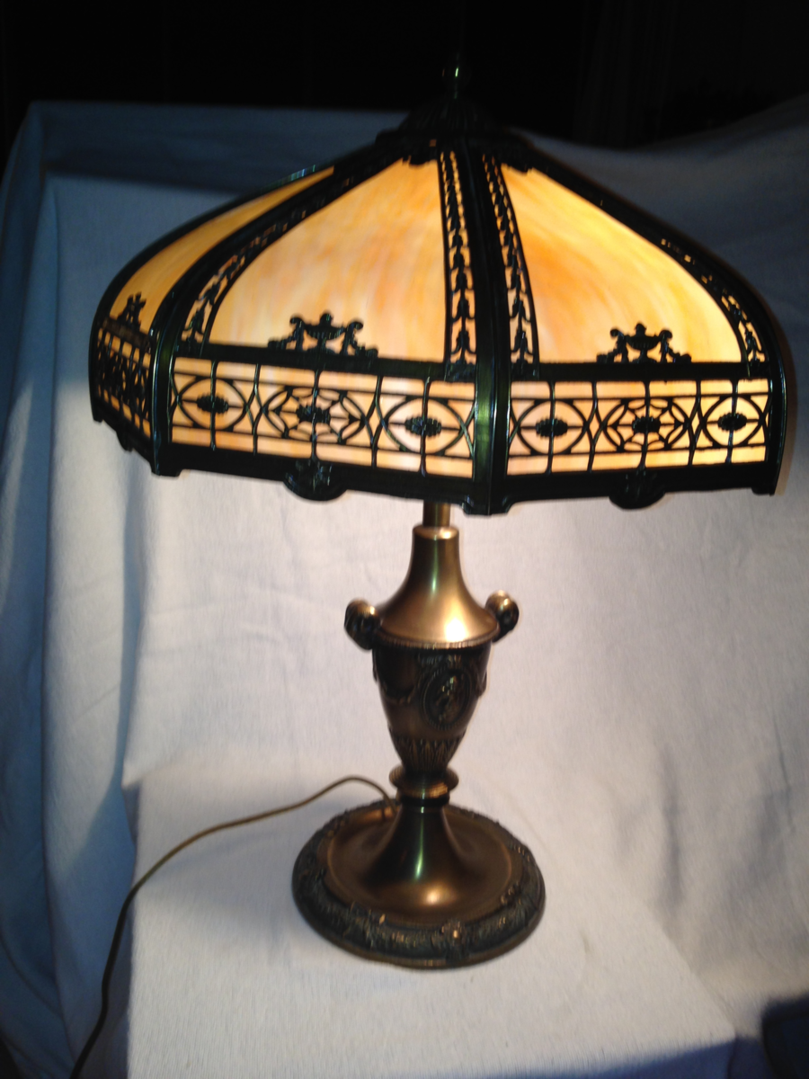 Gram S Antique Lamp Slag Glass Table Lamp Collectors Weekly