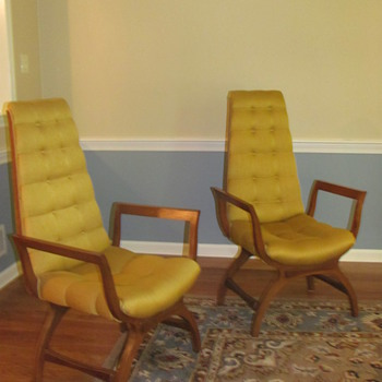 High Back Chairs - Mid Century Modern? - Furniture
