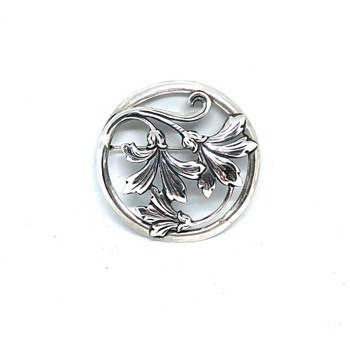 Tiffany & Co. Vintage 925 Sterling Silver Floral Round Brooch - Fine Jewelry