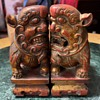 Pair of Fierce Buddhist Lions - Shi shi or Foo Dogs