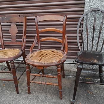 three antique chairs - Furniture
