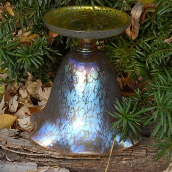 "LOETZ ""Candia"" Papillon Compote, Circa 1916 - Art Glass"