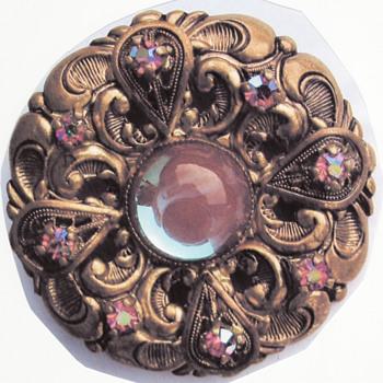 Saphiret Vintage Big Czech Brooch
