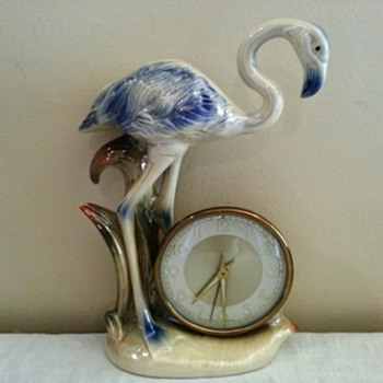 Jema Holland (424) Flamingo Mantle Clock - Clocks