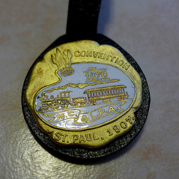 1907 Master Car & Locomotive Painters Assn Enamel Fob by Ball Chemical Co - Pocket Watches