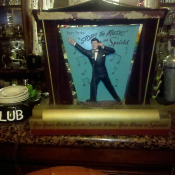 Old Spiedel Bert Parks Display - Music Memorabilia