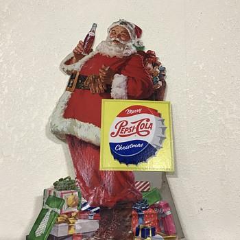 Pepsi Santa table top advertising  - Advertising