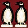 1930's Cast Iron Penguin Bookends