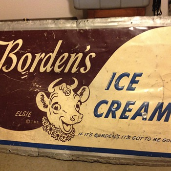 Borden's Elsie the Cow sign