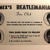 WMEX Beatles Fan Club Card-1964
