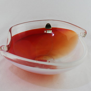 Glass salad bowl from Kurata - Art Glass