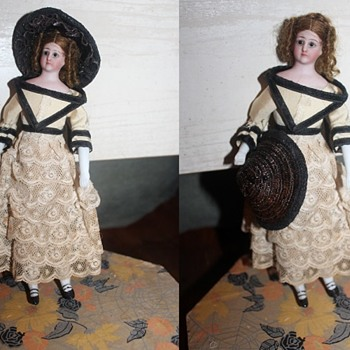 "My 1880s Simon and Halbig Bisque and Muslin ""Little Women"" Doll - Dolls"