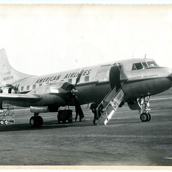 Old American Airlines Airplane Photo - Photographs