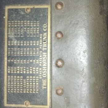 Oshkosh Steamer Trunk 1914 - Furniture