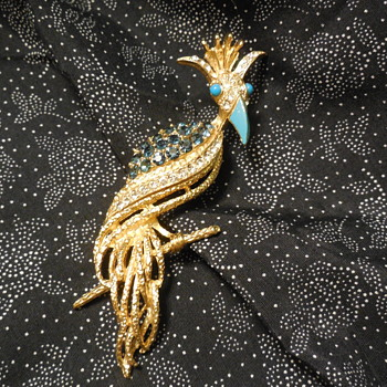 Vintage Florenza Bird Brooch - Animals