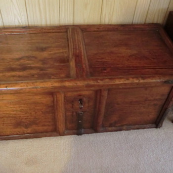 Unidentified Very Old Wood Trunk with Bearclaw Lock - Furniture