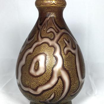 """Loetz """"Octopus (Federzeichnung)"""" Vase. 8"""" Tall. Circa 1887 - Art Glass"""