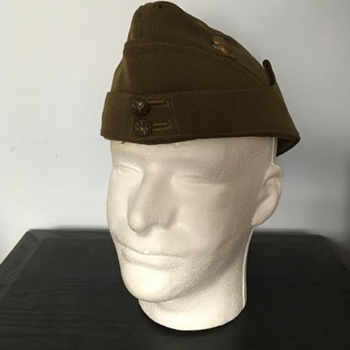 WWII Royal Artillery Officer's Side Cap  - Military and Wartime