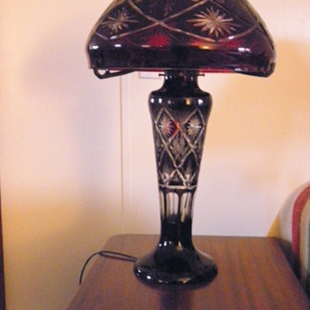 Red Glass Lamp - Lamps