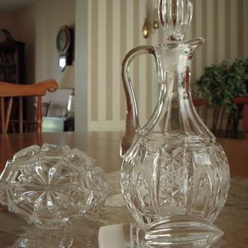 cut crystal cruets - Glassware