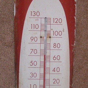 Coca Cola Wall Thermometer AKA Cigar Themometer - Signs