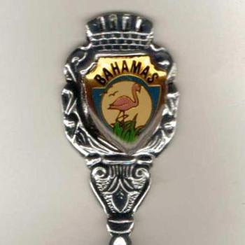 """Souvenir Spoon - """"Bahamas"""" - Advertising"""