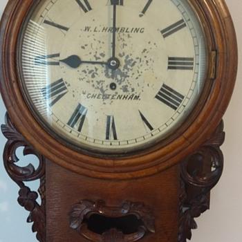W. L. Hambling Cheltenham. Wall Clock Circa Unknown... - Clocks