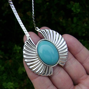 Park Lane Turquoise Pendant Necklace - Costume Jewelry