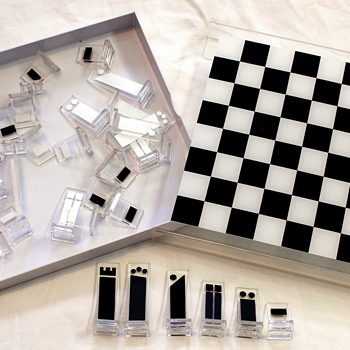 Mid Century Acrylic Chess Set - Games